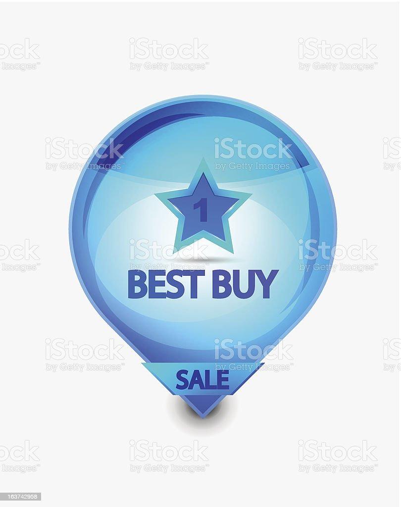 Vector best buy label royalty-free stock vector art