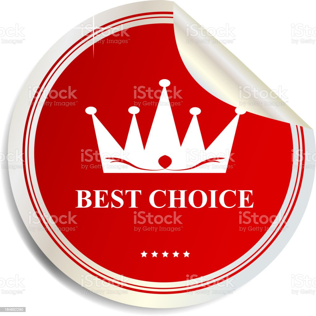Vector Best choice label  sticker royalty-free stock vector art