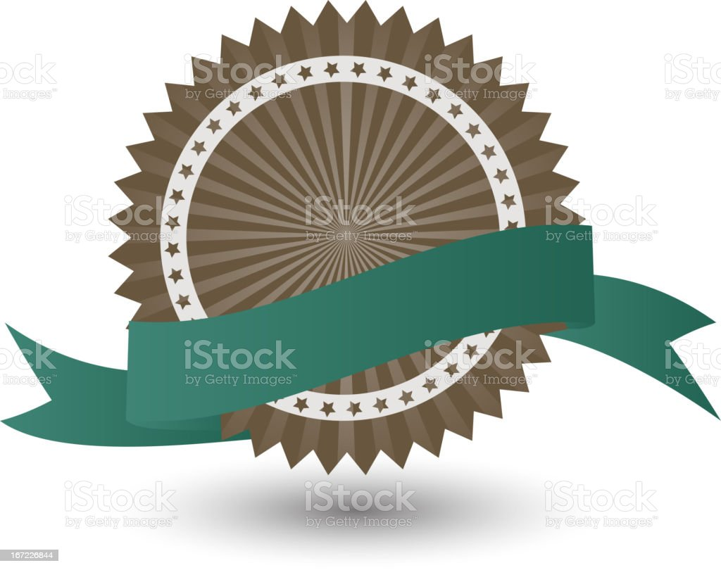 Vector Best Seller label with green ribbon. royalty-free stock vector art