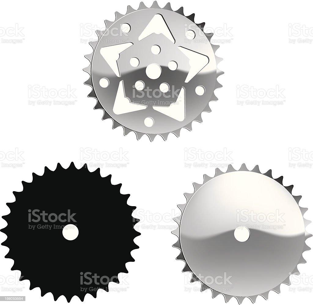 Vector - Bicycle Sprocket royalty-free stock vector art