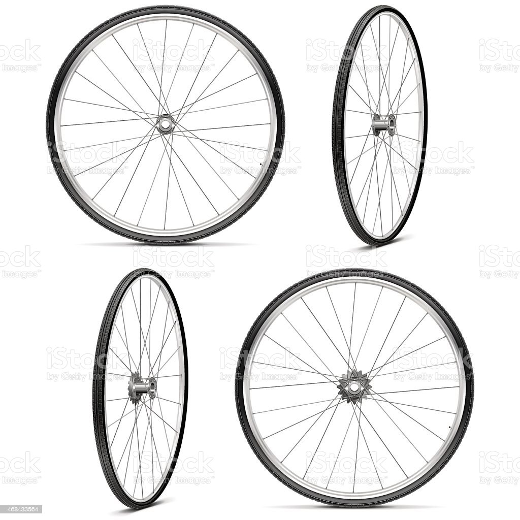 Vector Bicycle Wheels vector art illustration