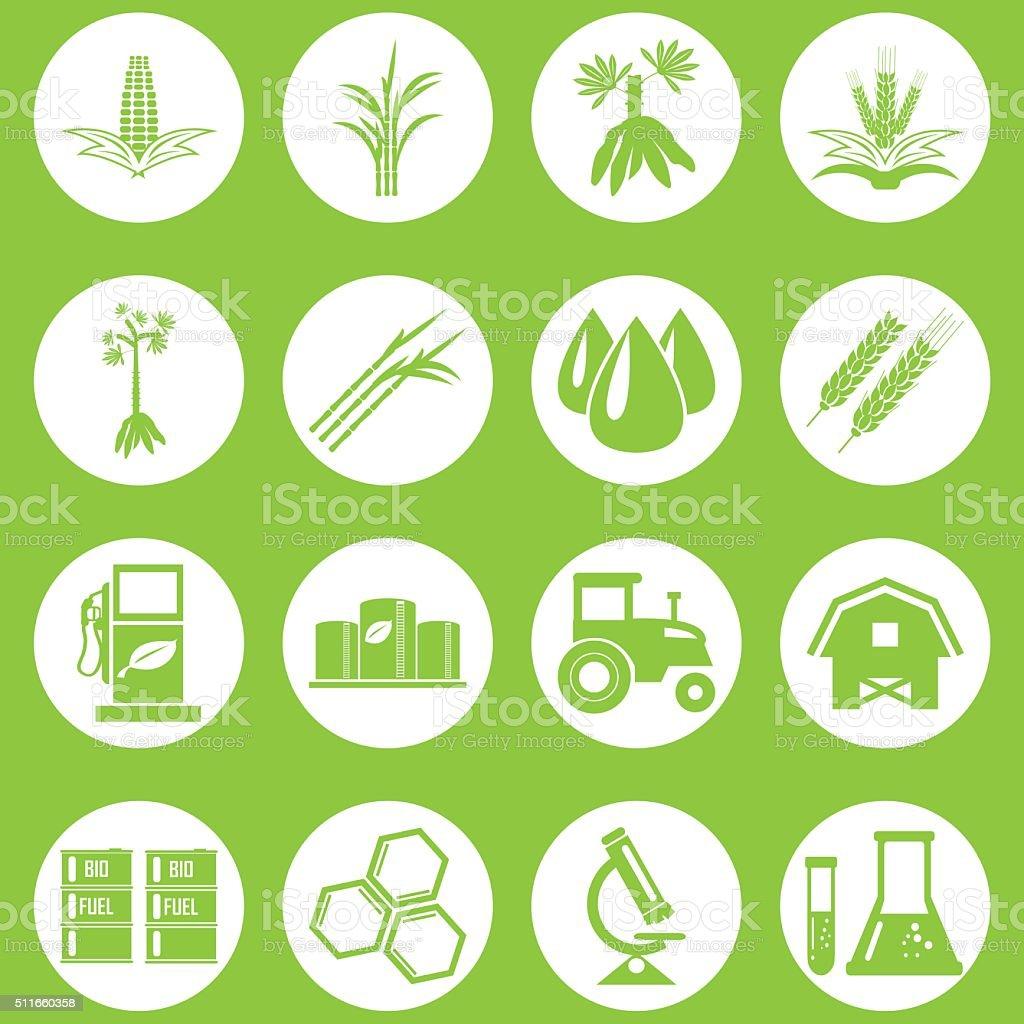 Vector bio fuels refinery plant , bio diesel , icons vector art illustration