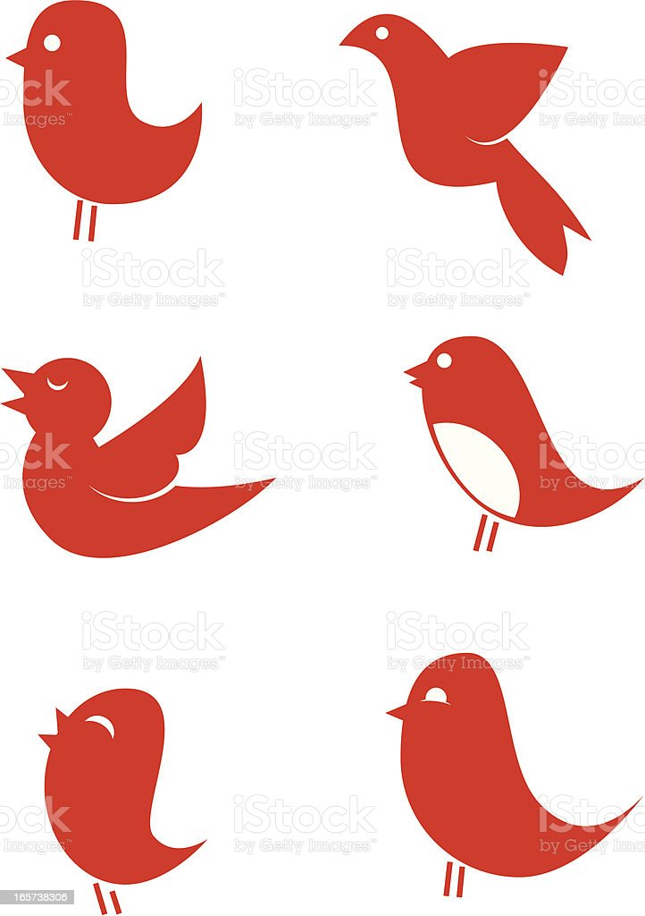 Vector Bird icons vector art illustration