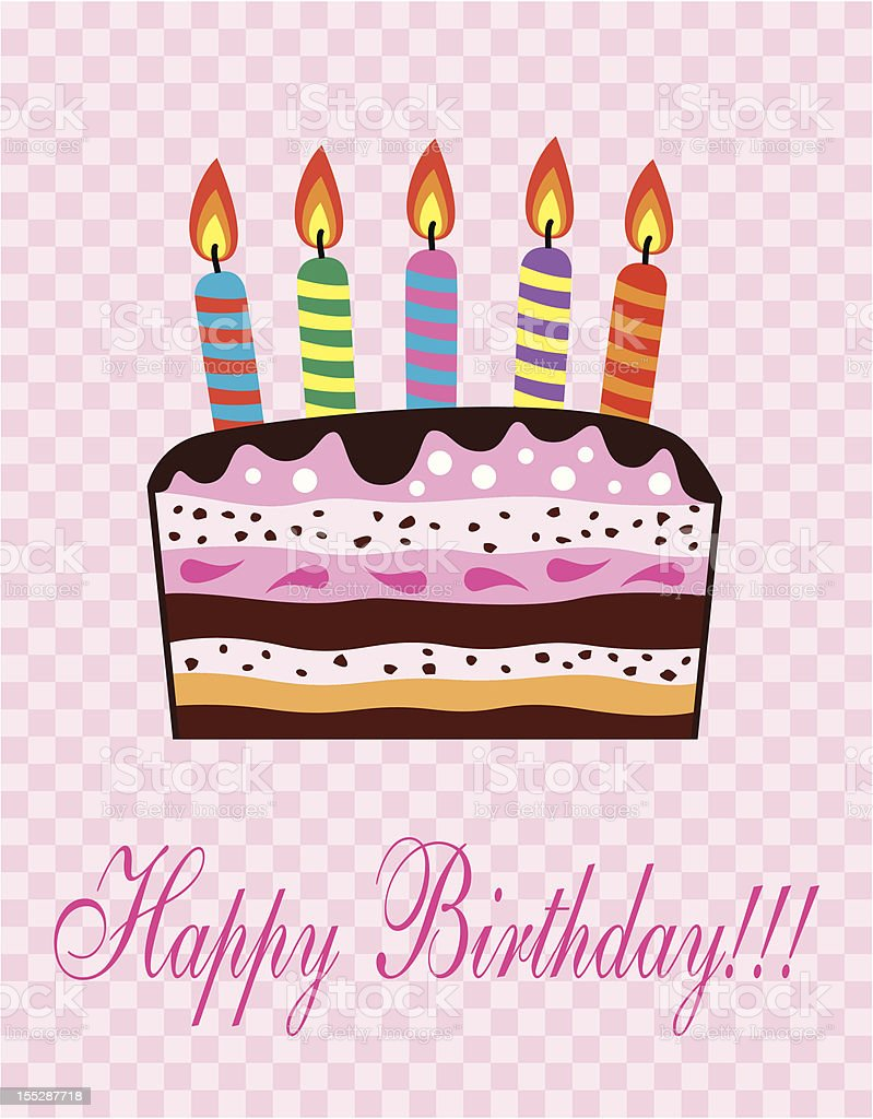 vector birthday cake royalty-free stock vector art