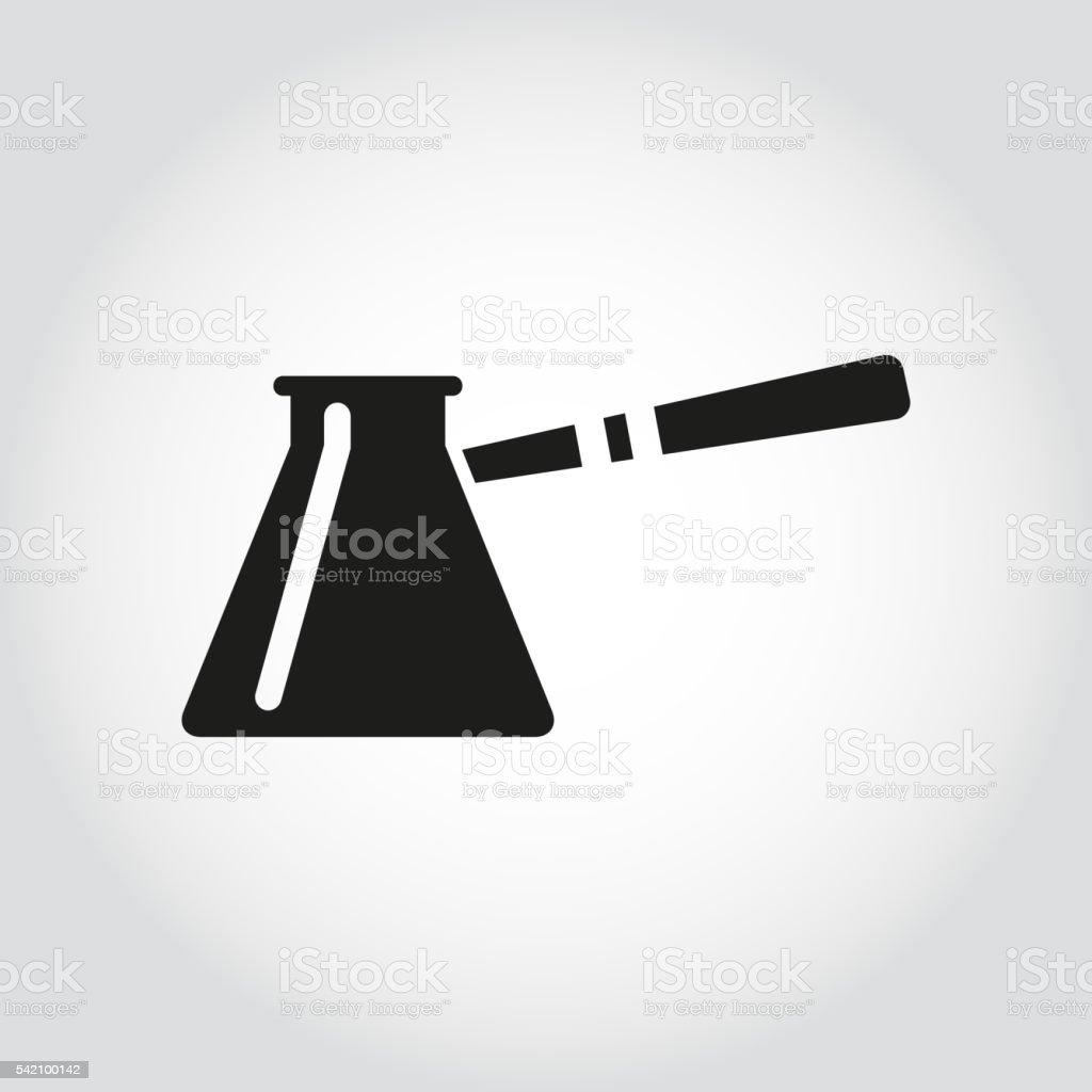 Vector black cezve for coffe icon vector art illustration