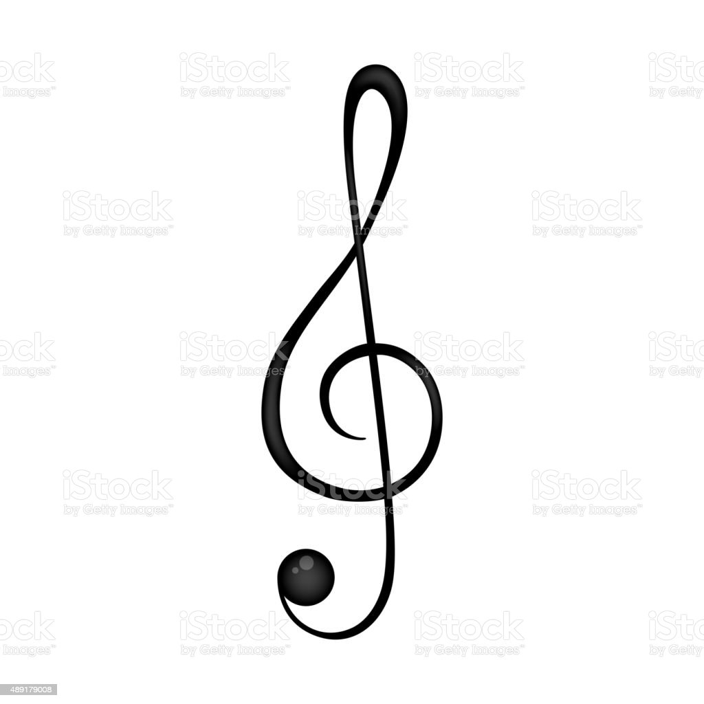 Vector Black Clef vector art illustration