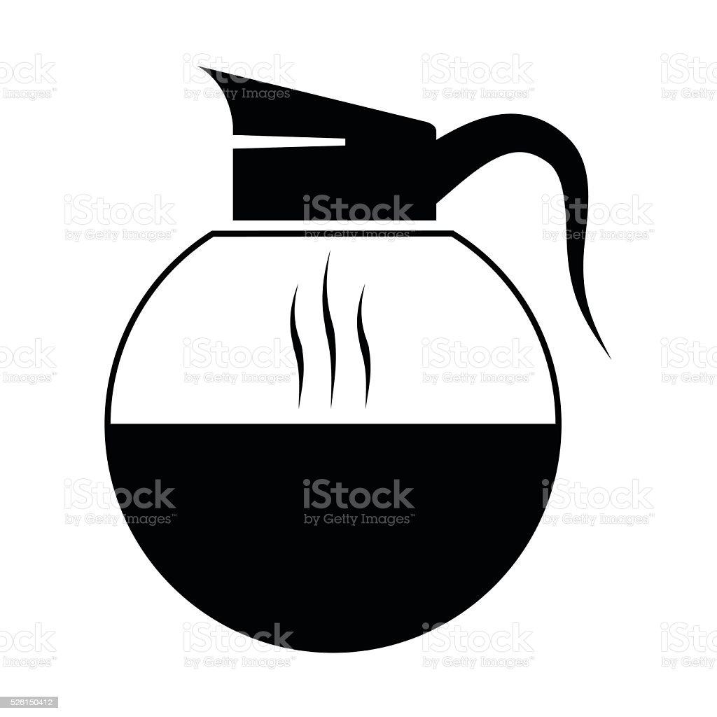 Vector black coffee icons vector art illustration