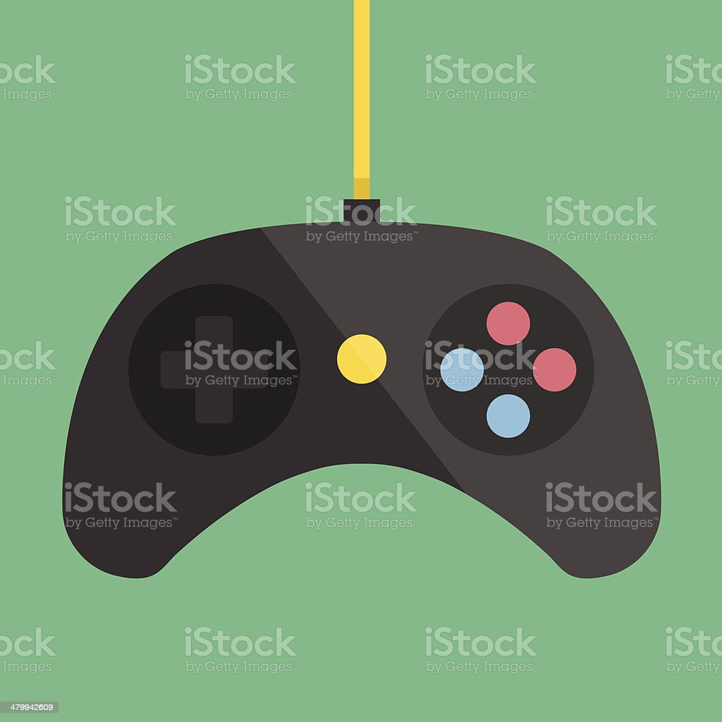 Vector Black Gamepad Icon vector art illustration