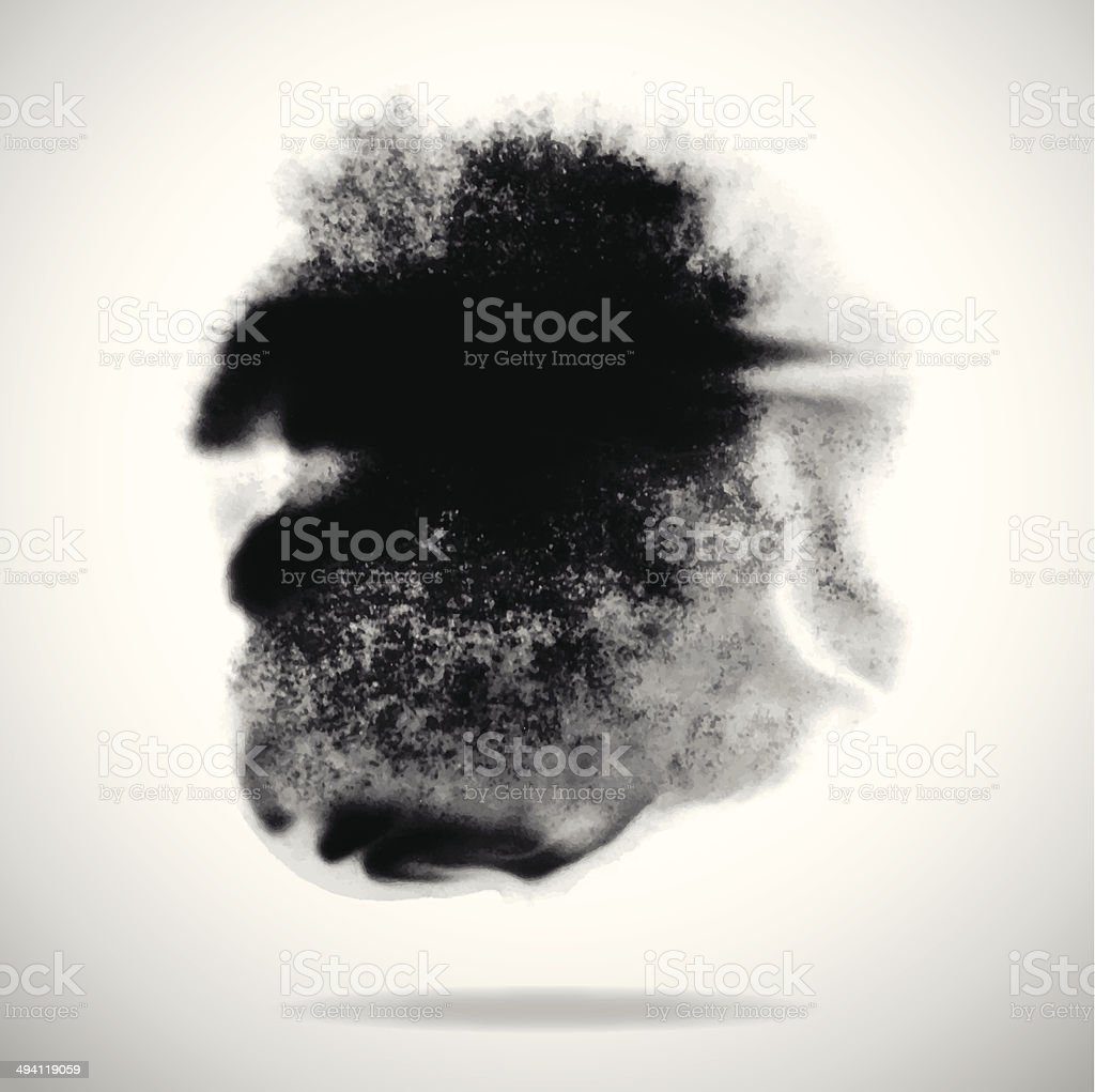 vector black ink splashes on white background vector art illustration