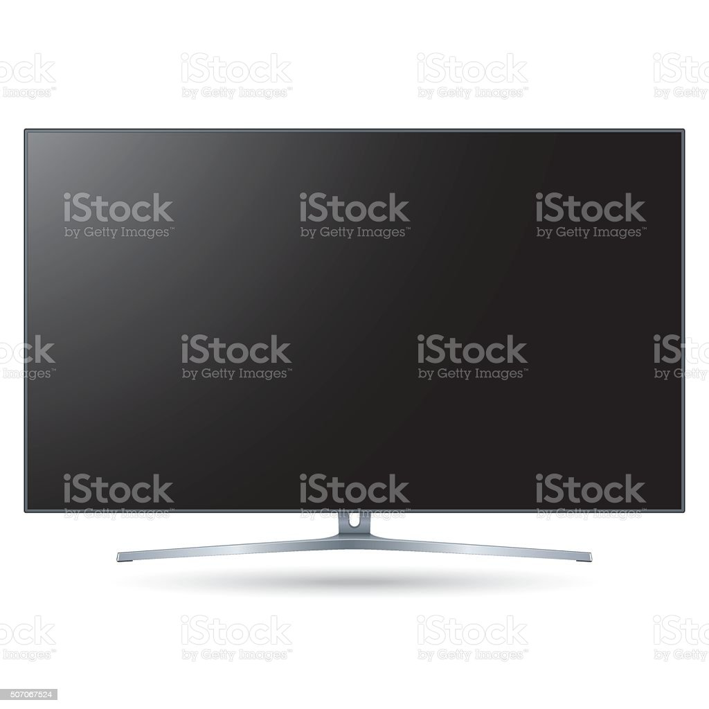 Vector Black Smart TV Template vector art illustration