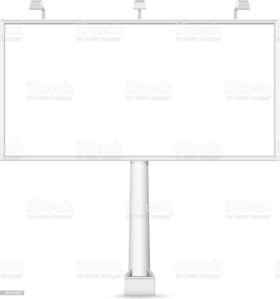 Vector blank Billboard royalty-free stock vector art