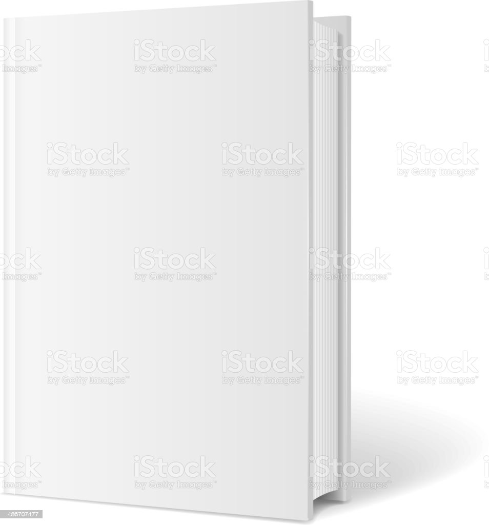 Vector blank book cover perspective vector art illustration