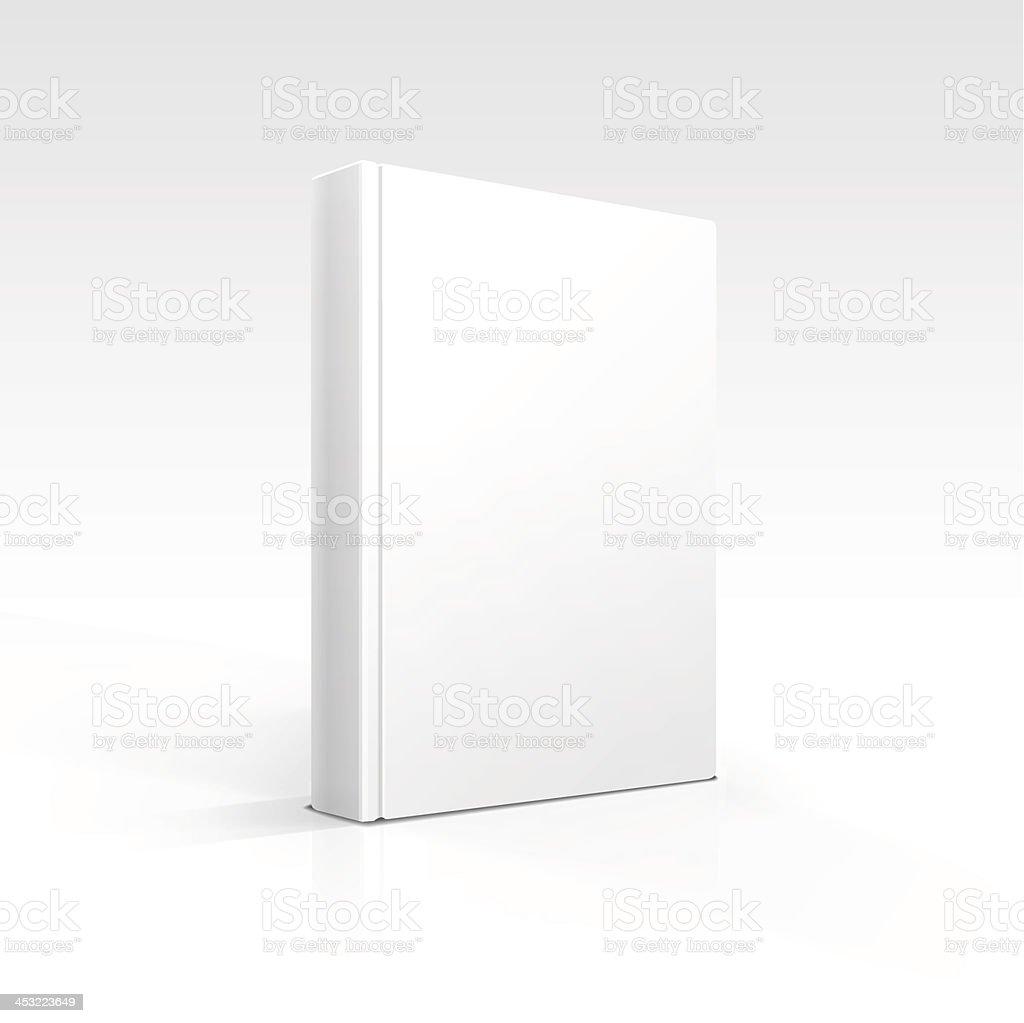 Vector Blank Book vector art illustration