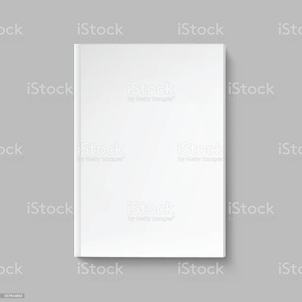 Vector Blank Cover for Book or Magazine Template Isolated vector art illustration