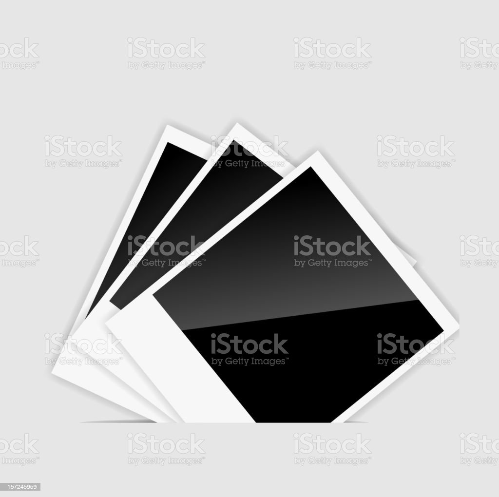 Vector blank  Instant photos illustration royalty-free stock vector art