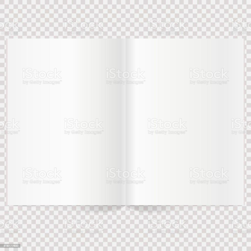 Vector blank magazine spread vector art illustration