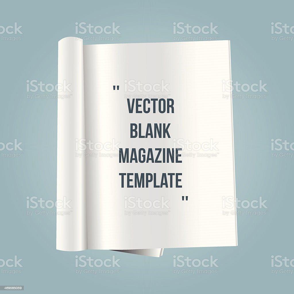 vector blank magazine template vector art illustration