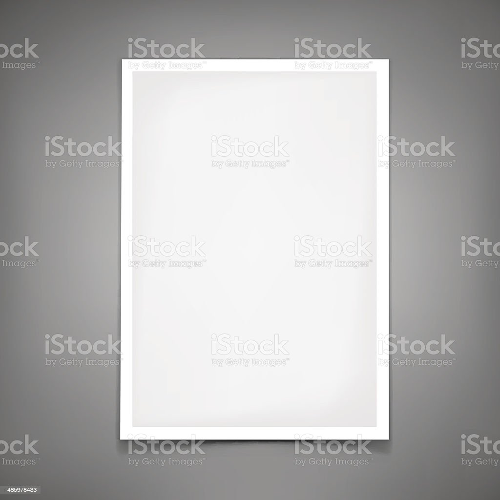 Vector blank paper sheet. Template for your design vector art illustration