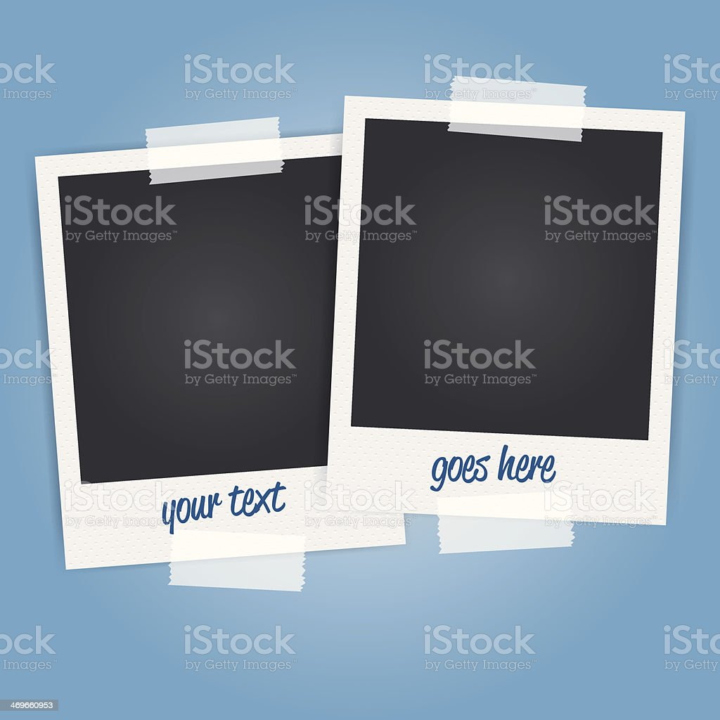 vector blank polaroid photo frames vector art illustration
