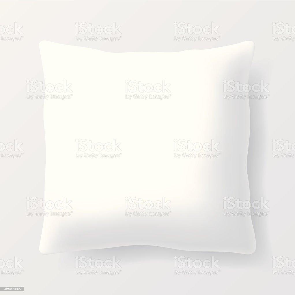 vector blank square pillow vector art illustration