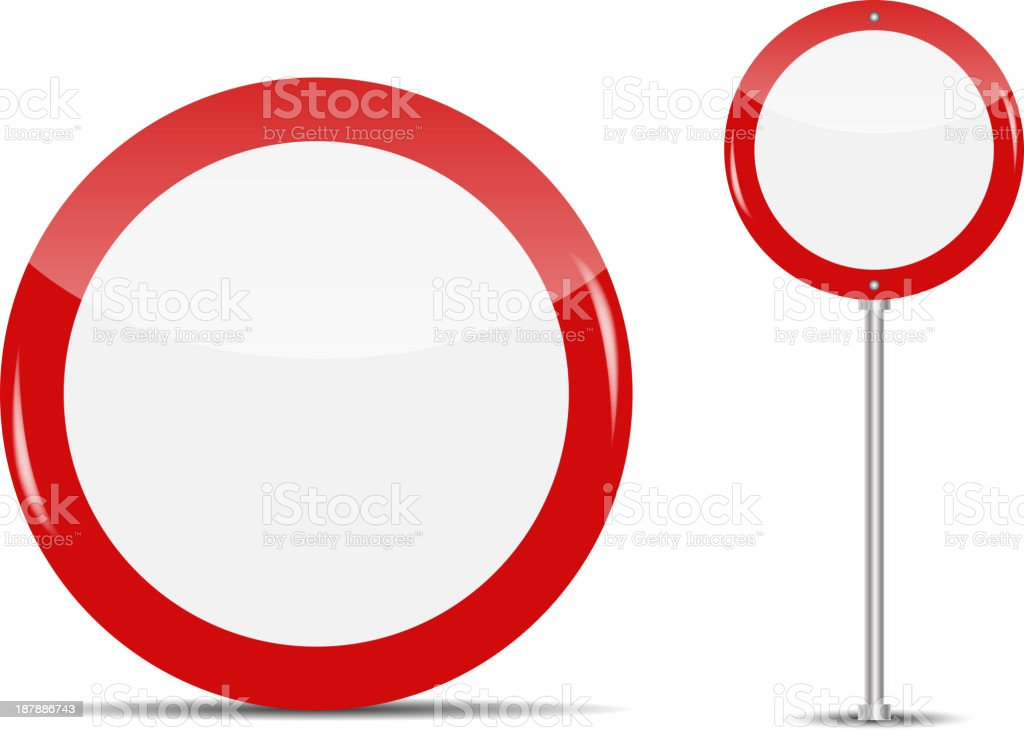 Vector Blank Traffic Sign isolated on white background royalty-free stock vector art