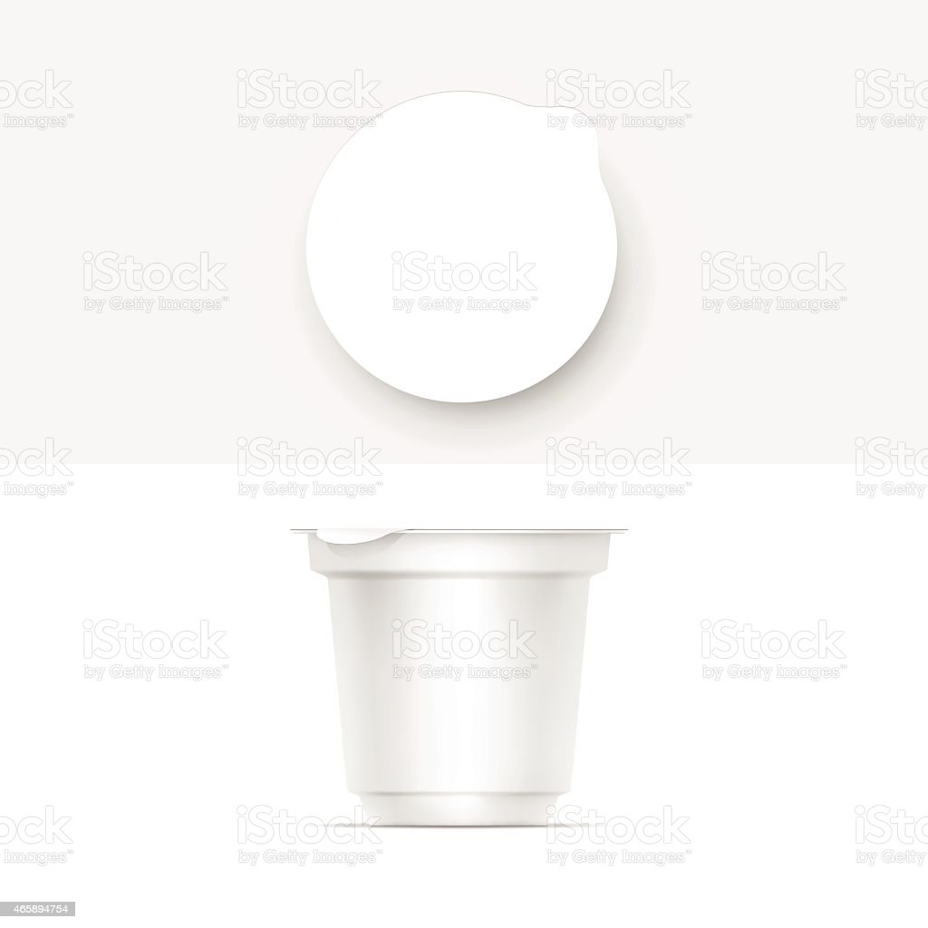 Vector Blank White Packaging Container vector art illustration