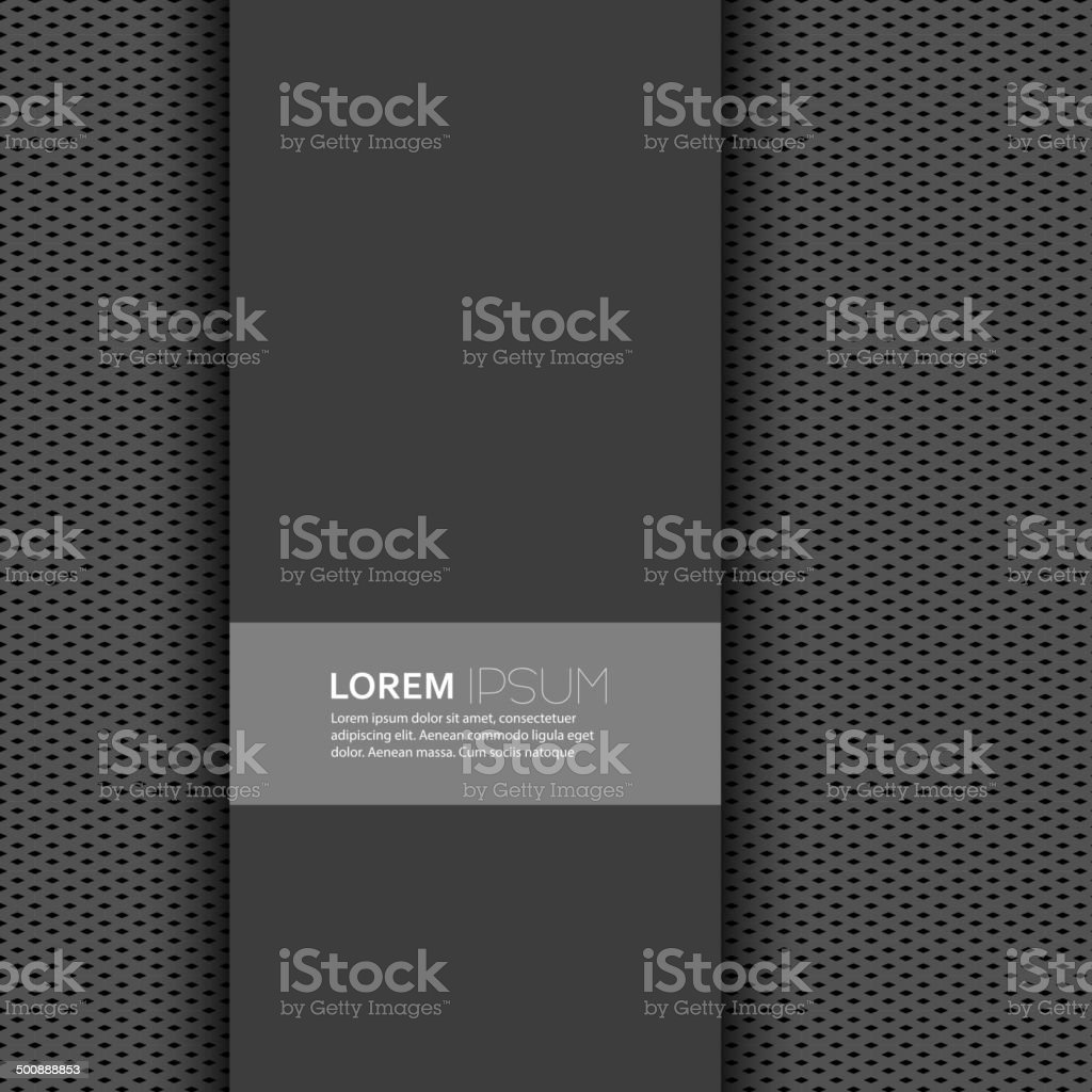 Vector blank with dark background and uniform texture vector art illustration