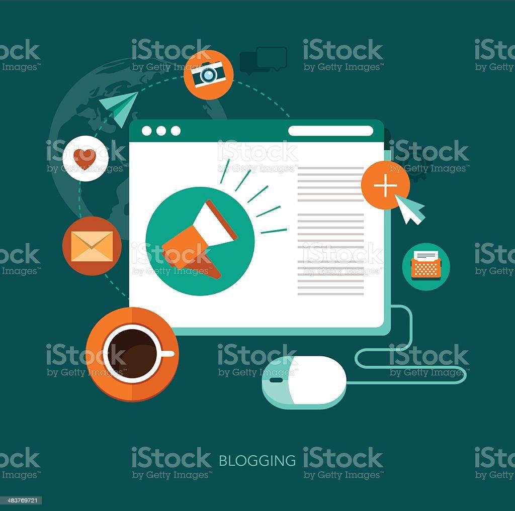 vector blogging concept illustration vector art illustration