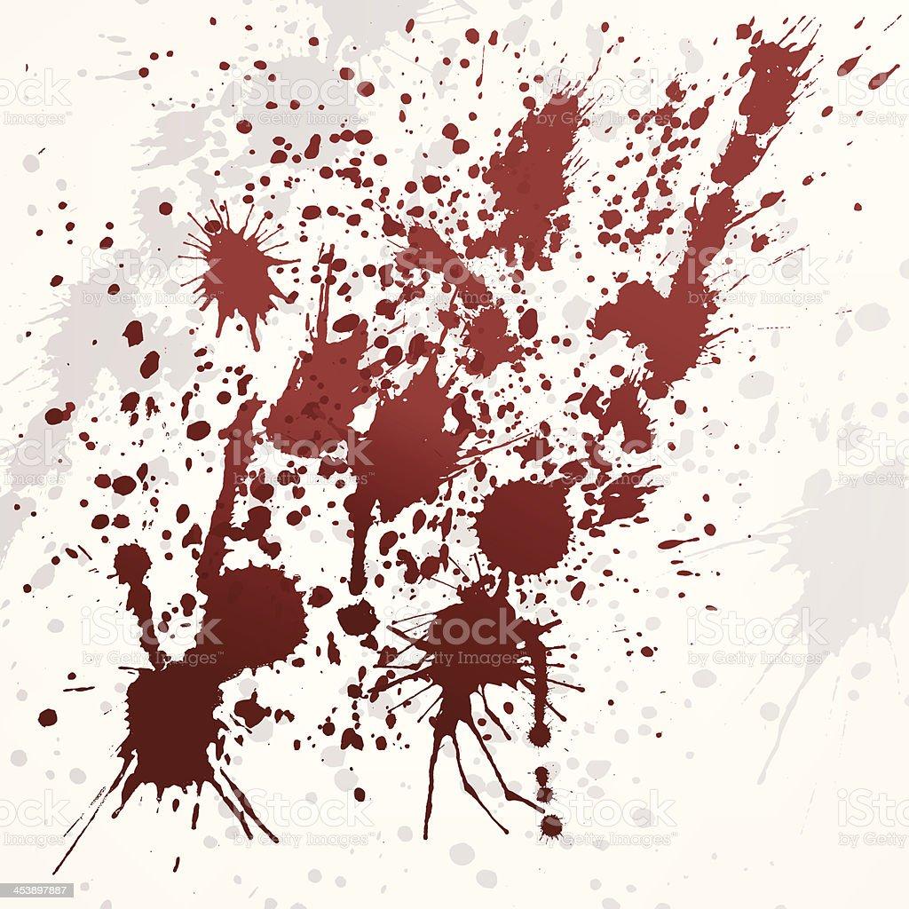 vector blood stains background vector art illustration