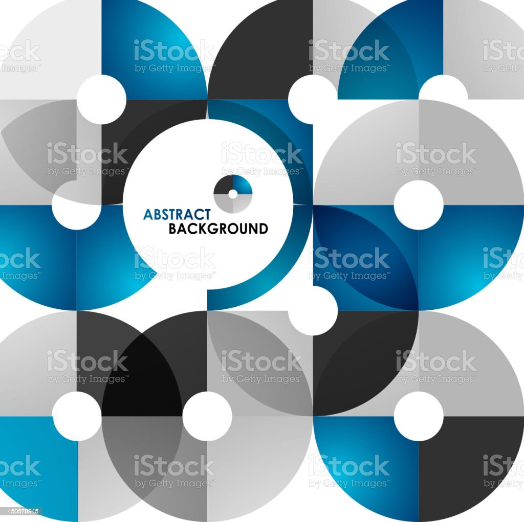 Vector blue and black circles background royalty-free stock vector art