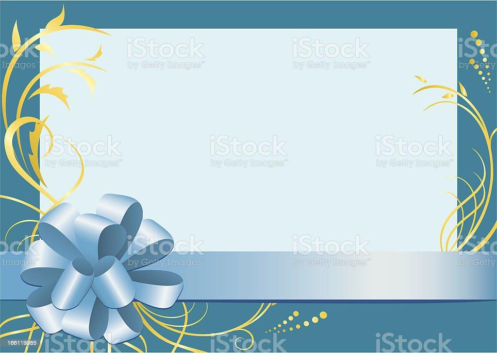vector blue floral frame royalty-free stock vector art
