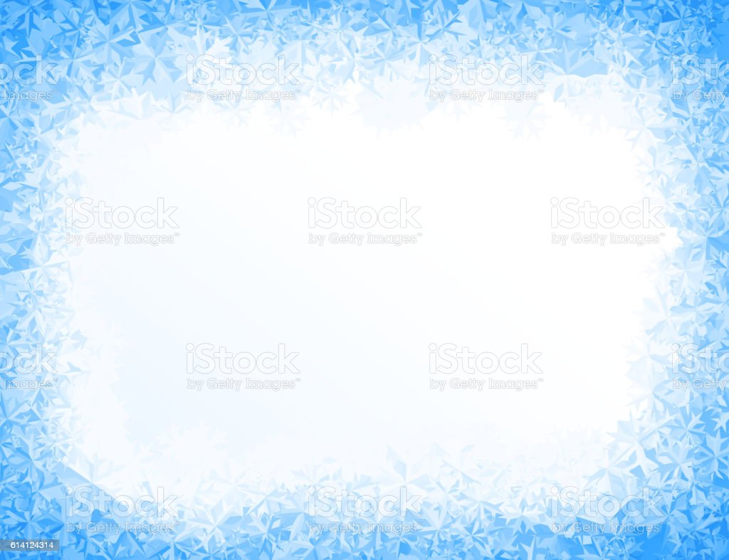 Vector blue ice background vector art illustration