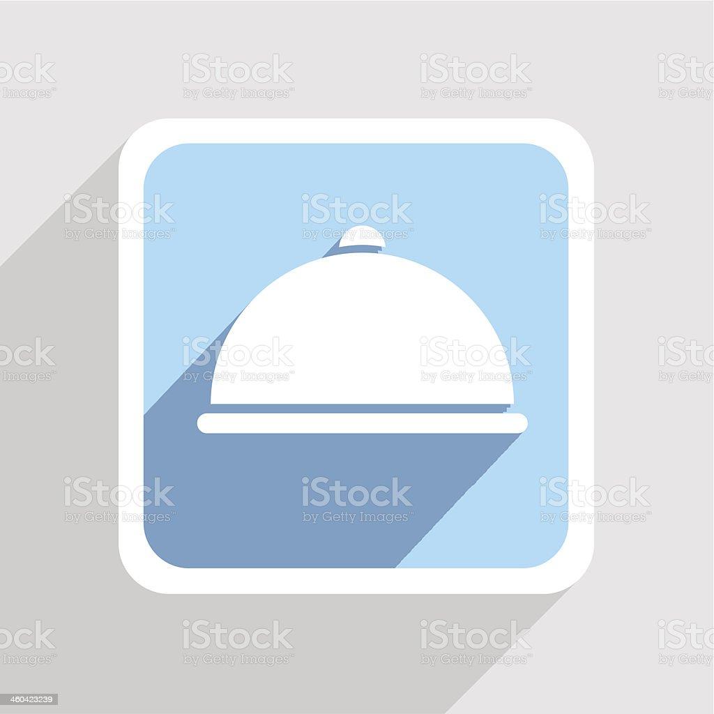 Vector blue icon on gray background. Eps10 vector art illustration