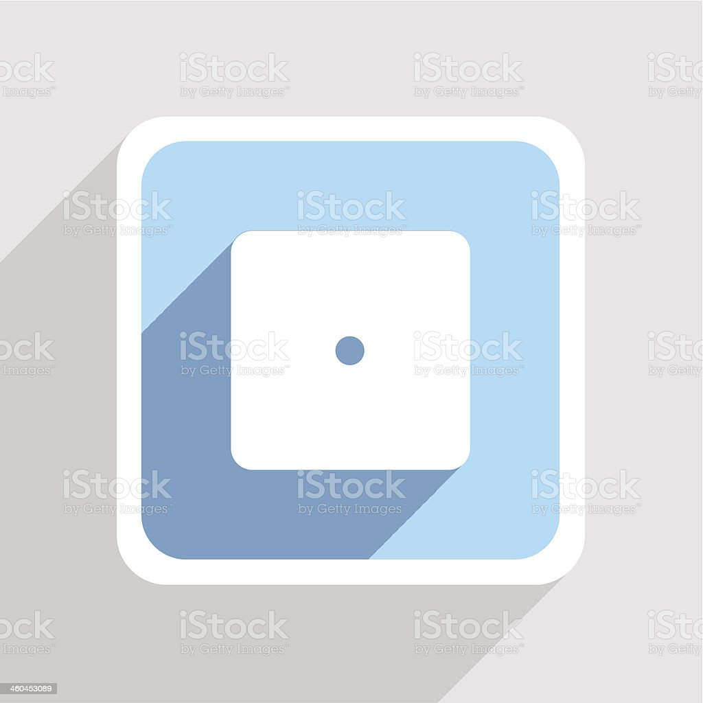 Vector blue icon on gray background. Eps10 royalty-free stock vector art