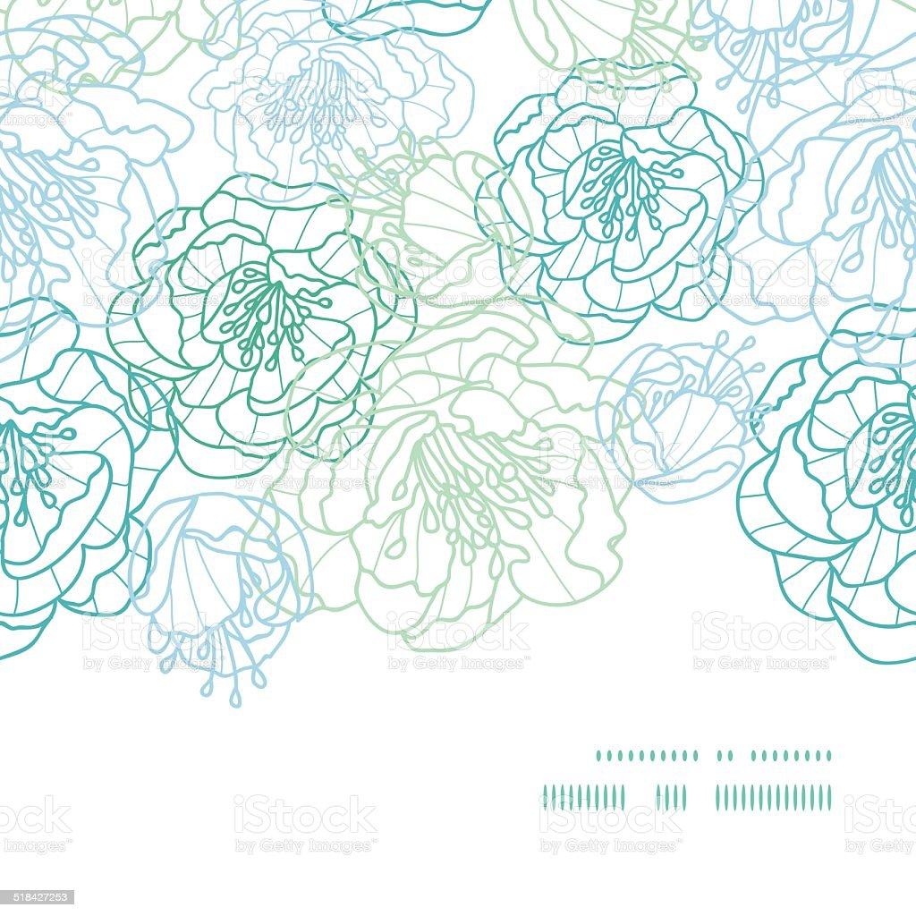 Line Art Plants : Image gallery line flower art blue