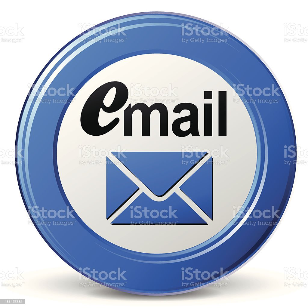 Vector blue mail icon royalty-free stock vector art
