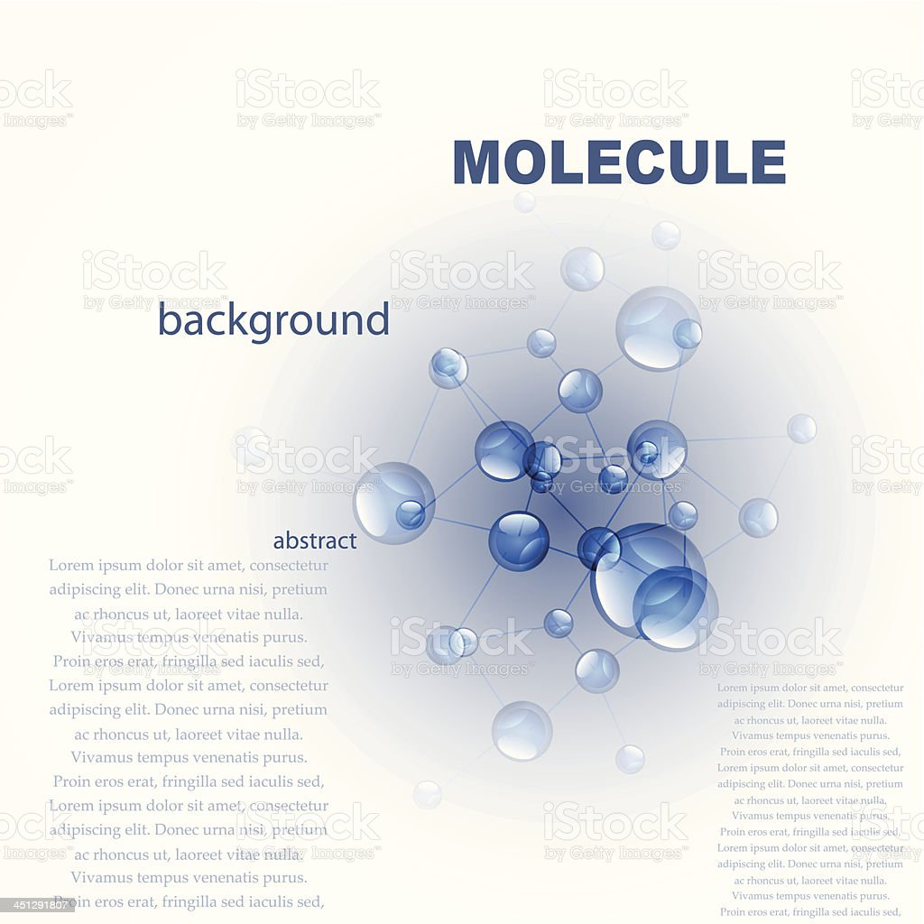 Vector blue molecules background royalty-free stock vector art