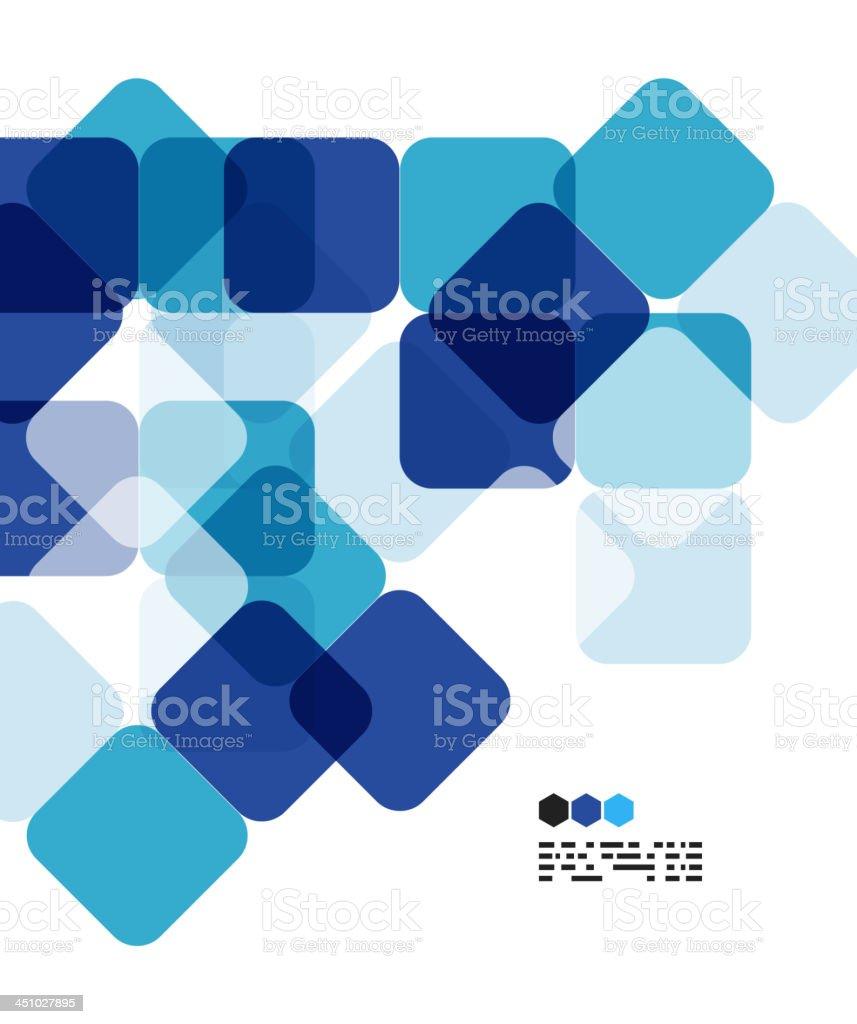 Vector blue mosaic background vector art illustration