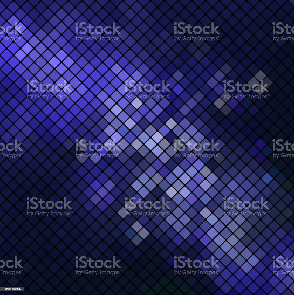 Vector blue mosaic vector art illustration
