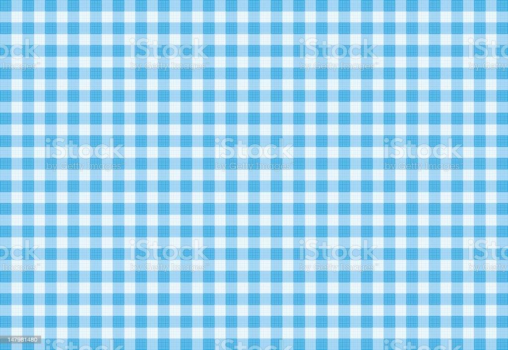 Vector Blue Plaid Fabric background textured vector art illustration