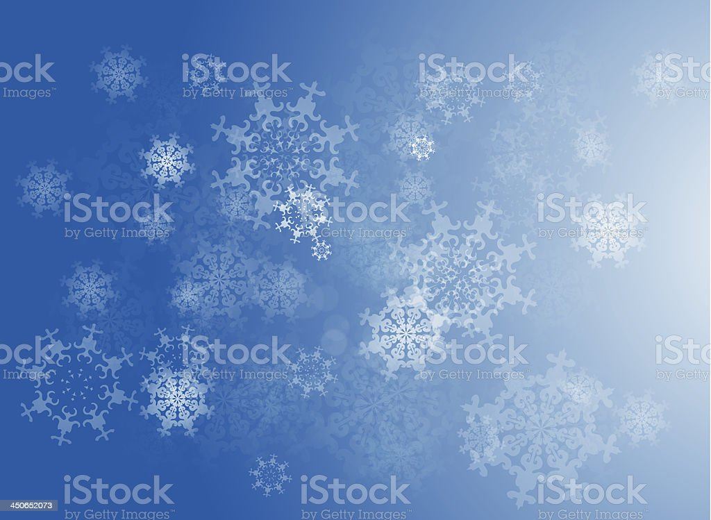 Vector blue snowflakes background royalty-free stock vector art