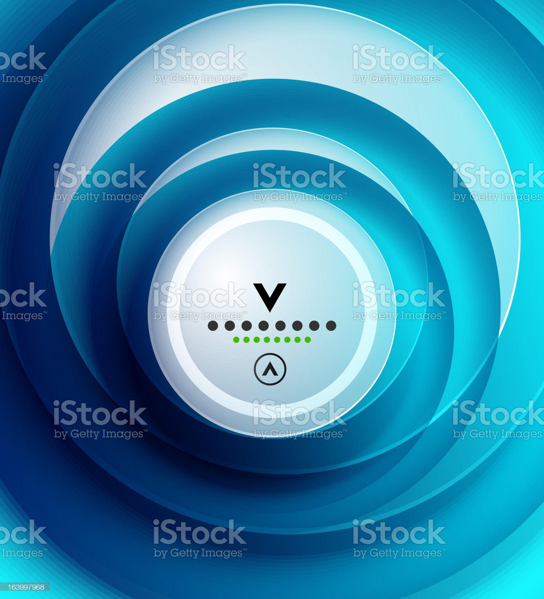 Vector blue swirl background royalty-free stock vector art