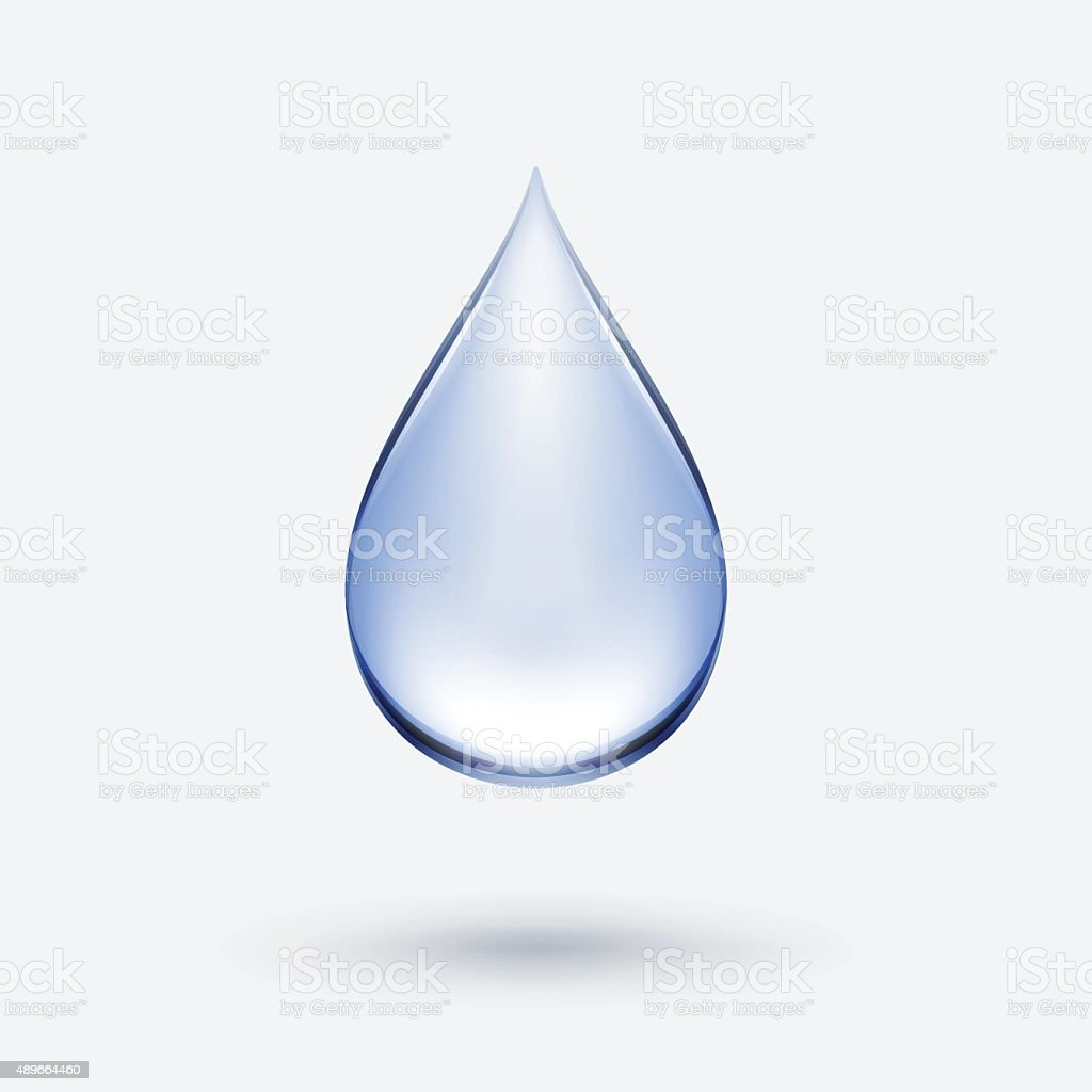 Vector Blue Water Drop Icon Isolated on Background vector art illustration