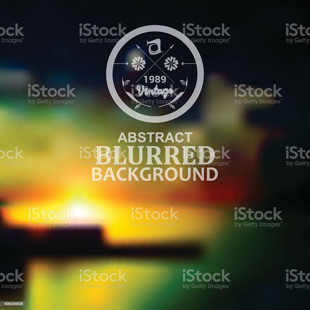 vector blurred landscape background vector art illustration