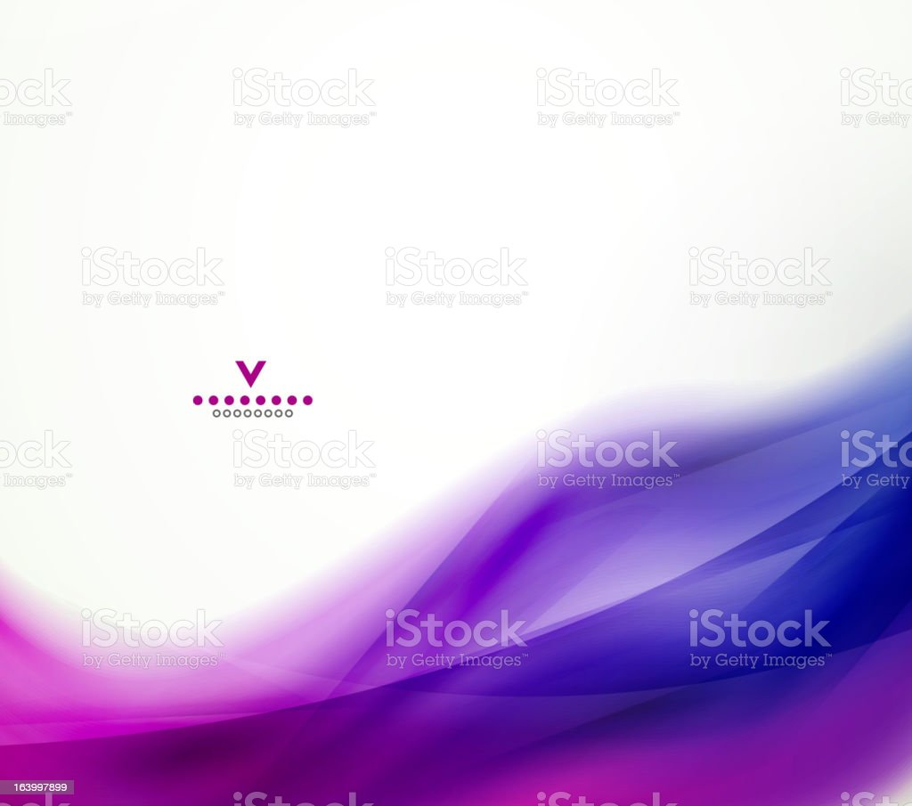 Vector blurred purple wave background royalty-free stock vector art