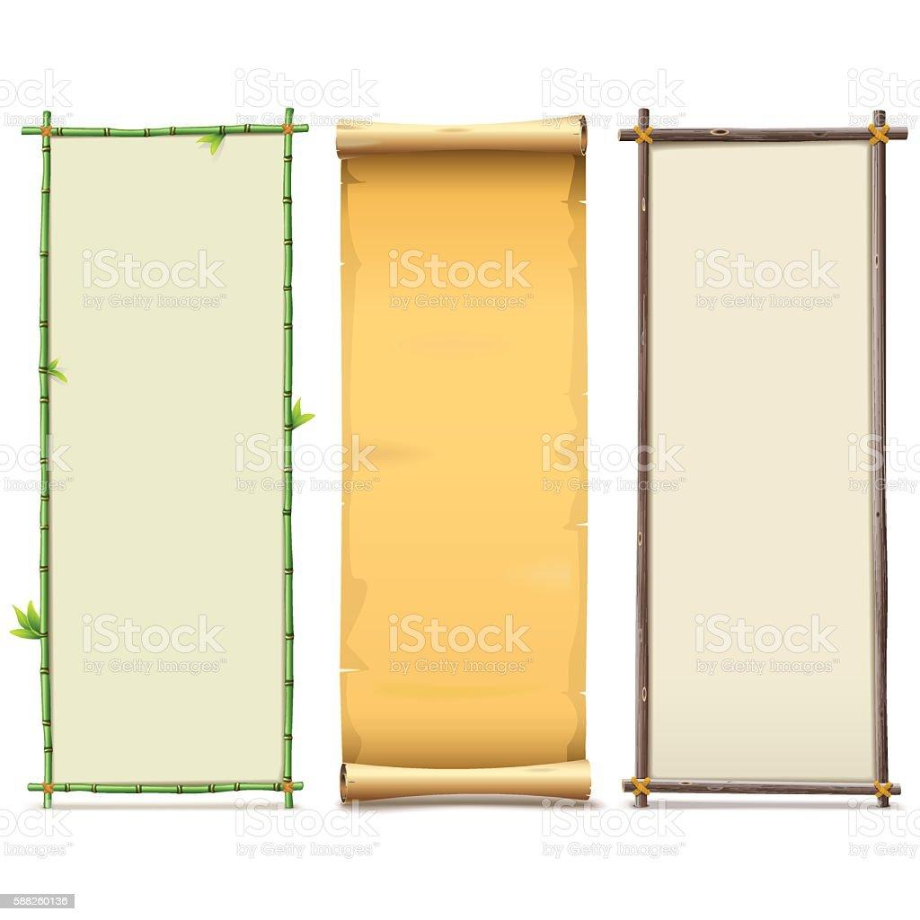 Vector Boards Set 8 vector art illustration