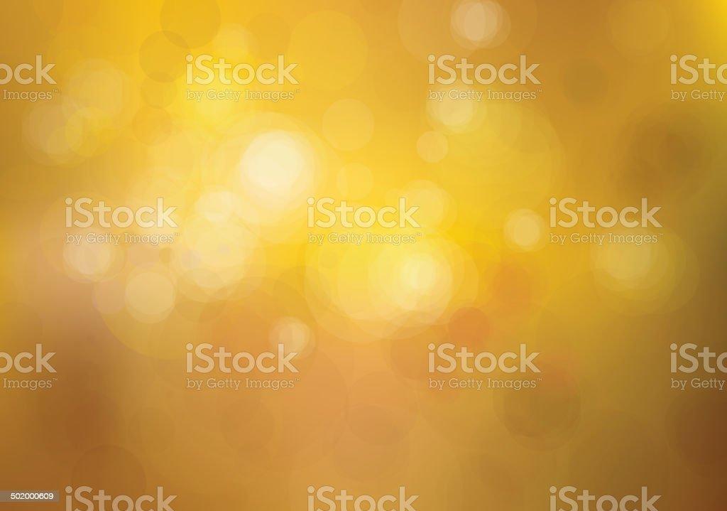Vector bokeh golden background. vector art illustration