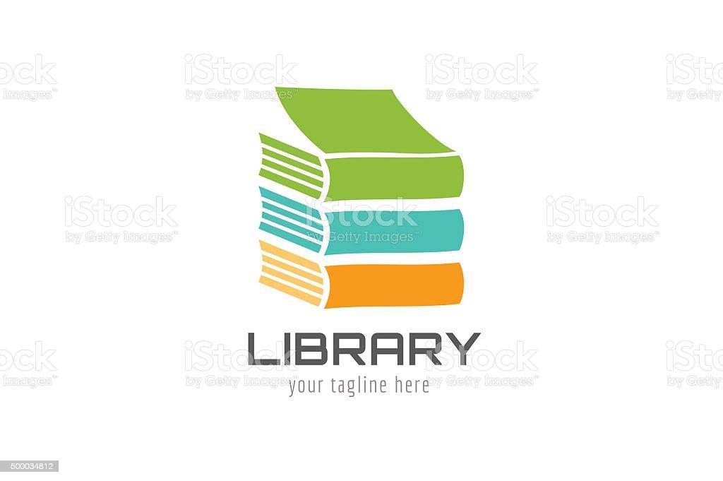 Vector book house template icon vector art illustration