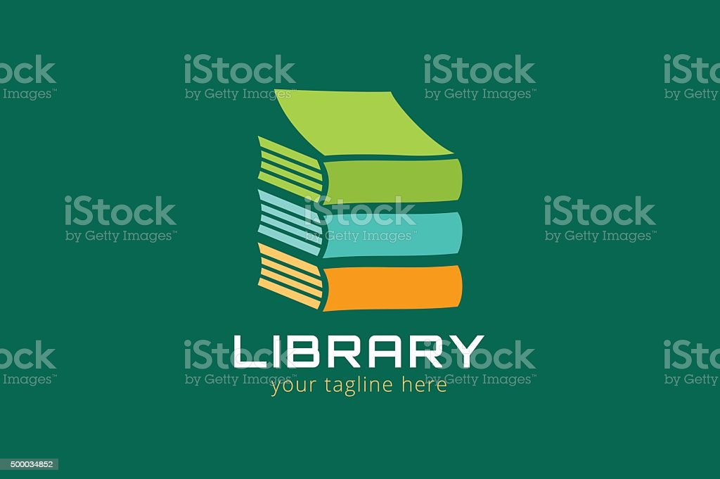 Vector book house template icon vector art illustration
