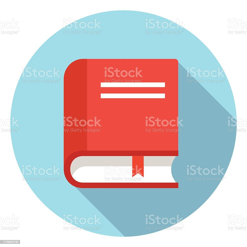 Vector book icon vector art illustration